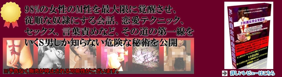 ドM美女完全覚醒術スライドバナー用ヘッダー画像